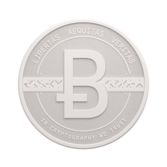 3D white coin face