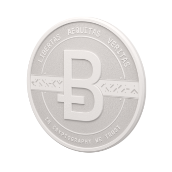3D white coin side